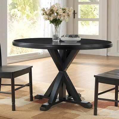 Fanning X Base Dining Table Finish: Antique Black