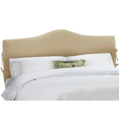 Upholstered Panel Headboard Upholstery: Linen Sandstone, Size: California King