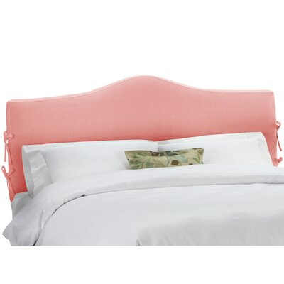 Upholstered Panel Headboard Upholstery: Linen Petal, Size: Queen