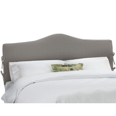Upholstered Panel Headboard Upholstery: Linen Grey, Size: King