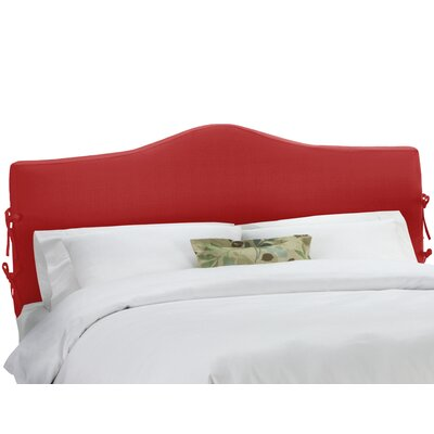 Upholstered Panel Headboard Upholstery: Linen Antique Red, Size: King