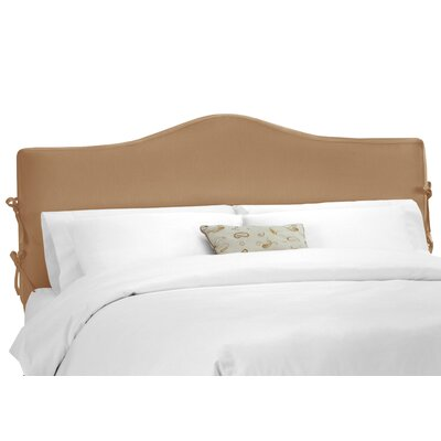 Crimmins Upholstered Panel Headboard Upholstery: Shantung Khaki, Size: King
