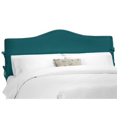 Crimmins Upholstered Panel Headboard Upholstery: Shantung Peacock, Size: King