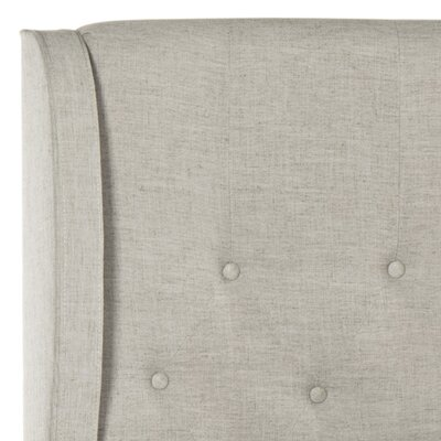 Indiana August Upholstered Wingback Bed Size: Twin, Color: Light Gray
