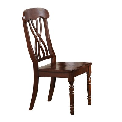 Corell Park Side Chair (Set of 2) Side Chair Finish: Derby Brown