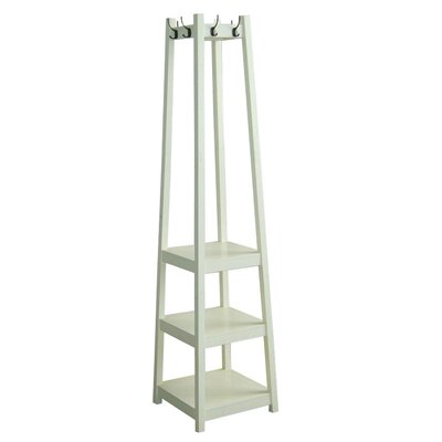 Crannell 3 Tier Tower Shoe Coat Rack Finish: White
