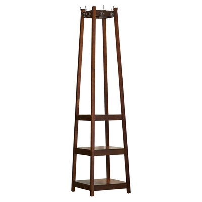 Crannell 3 Tier Tower Shoe Coat Rack Finish: Brown