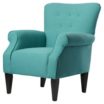 Manz Button Back Armchair Upholstery: Sensu Teal