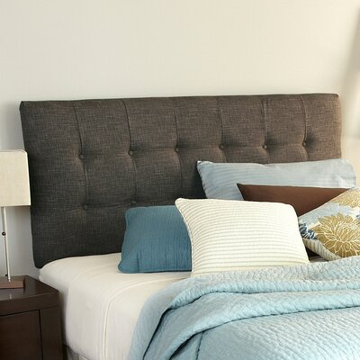 Upholstered Panel Headboard Upholstery: Textured Brown, Size: Queen