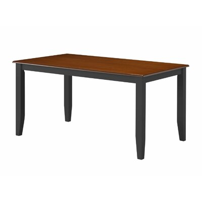 Hardcastle Dining Table Color: Black/Cherry