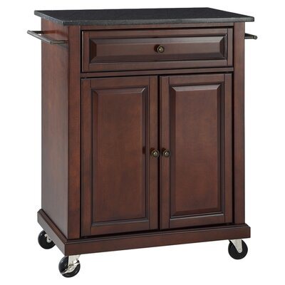 Celeste Kitchen Cart with Granite Top Base Finish: Vintage Mahogany