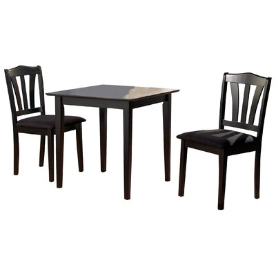 Dinah 3 Piece Dining Set Finish Black