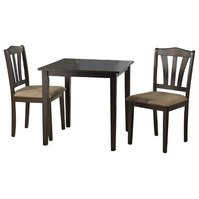 Dinah 3 Piece Dining Set Finish Espresso
