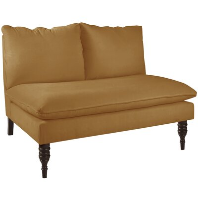 Monroeville Armless Love Seat Upholstery: Moccasin