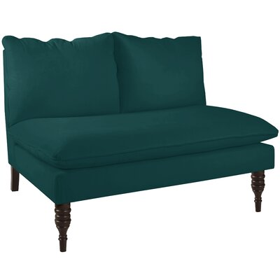 Monroeville Armless Love Seat Upholstery: Peacock