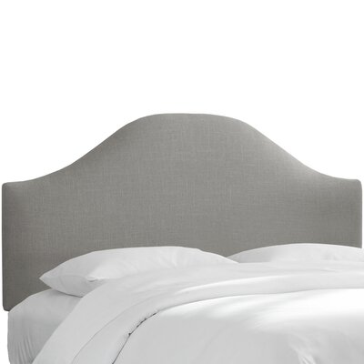Curved Upholstered Panel Headboard Upholstery: Gray, Size: Full