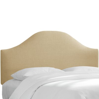 Curved Upholstered Panel Headboard Upholstery: Sandstone, Size: King