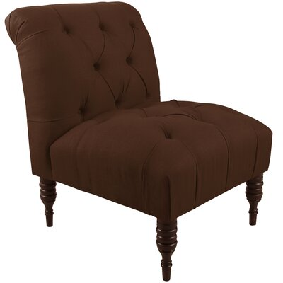 Tufted Slipper Chair Color: Chocolate
