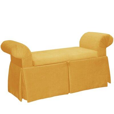 Queen Anne Upholstered Storage Bedroom Bench