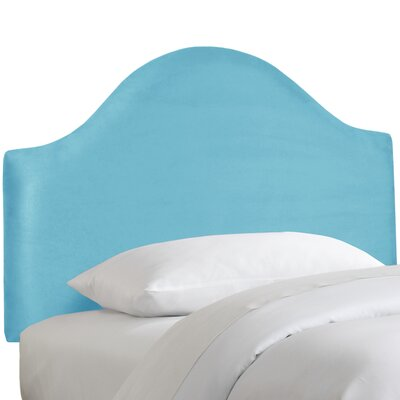 Premier Upholstered Panel Headboard Color: Azure, Size: Full