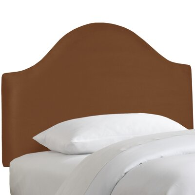 Premier Upholstered Panel Headboard Size: Twin, Color: Chocolate