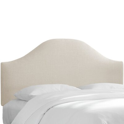 Curved Upholstered Panel Headboard Upholstery: Talc, Size: King