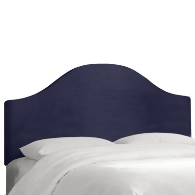 Regal Upholstered Panel Headboard Size: Queen, Color: Navy