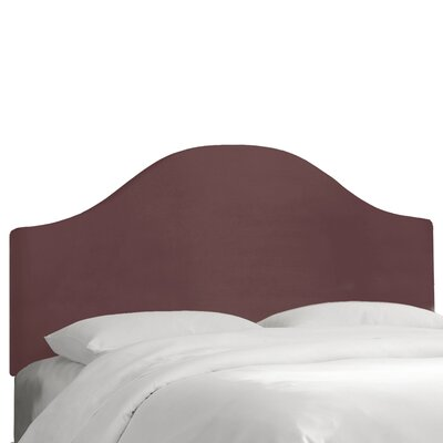 Regal Upholstered Panel Headboard Color: Plum, Size: Queen