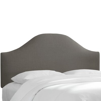 Curved Upholstered Panel Headboard Size: Full, Upholstery: Gray