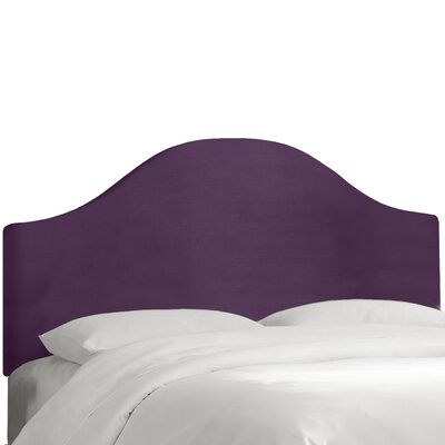 Upholstered Panel Headboard Color: Aubergine, Size: Queen