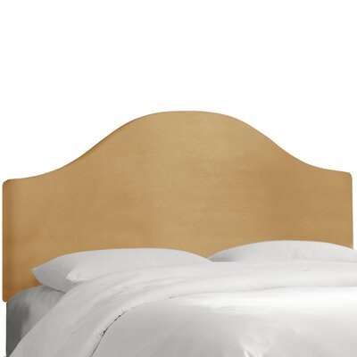 Upholstered Panel Headboard Color: Honey, Size: Queen