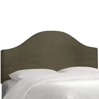 Upholstered Panel Headboard Size: Queen, Color: Pewter