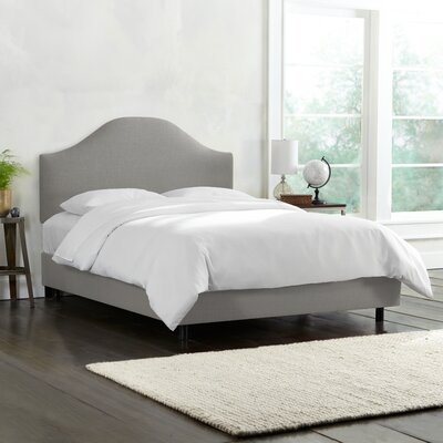Upholstered Panel Bed Size: Queen, Color: Gray