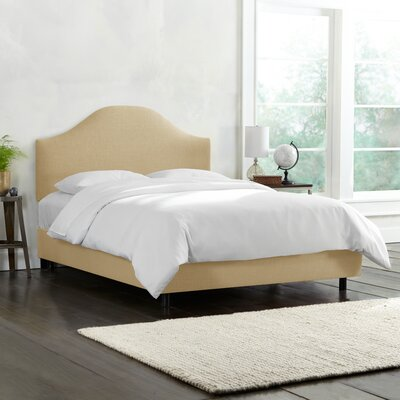 Upholstered Panel Bed Size: Twin, Color: Talc