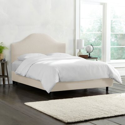 Upholstered Panel Bed Color: Talc, Size: Queen