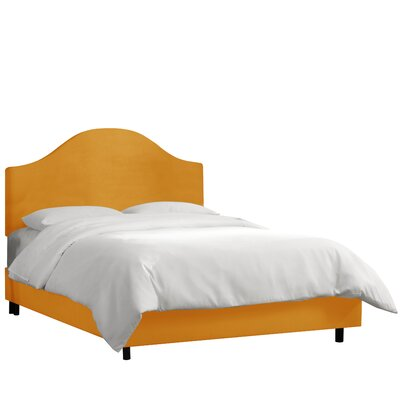 Bloomfield Upholstered Panel Bed Upholstery: Sangria, Size: King