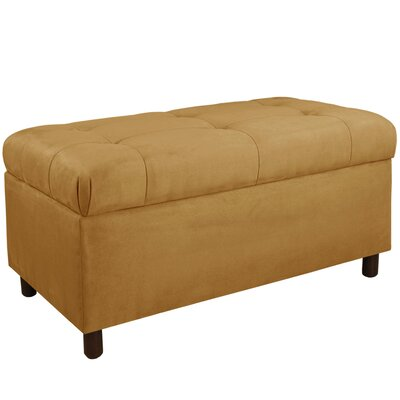 Monroeville Upholstered Storage Bedroom Bench Color: Moccasin