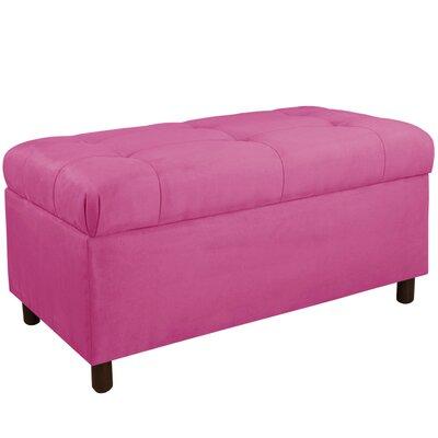 Premier Upholstered Storage Bench Color: Hot Pink
