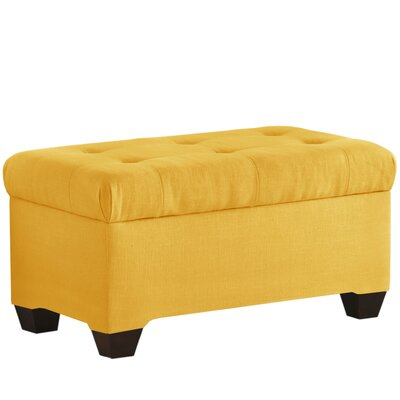 Linen Upholstered Storage Bedroom Bench Color: French Yellow