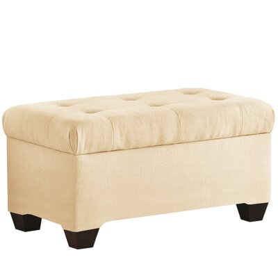 Upholstered Storage Bedroom Bench Color: Natural
