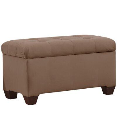Velvet Upholstered Storage Bench Color: Cocoa