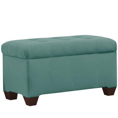 Velvet Upholstered Storage Bench