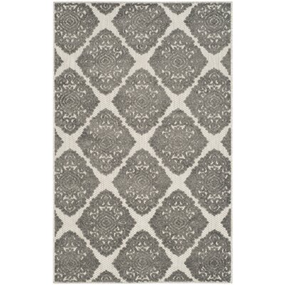 Mannox Cream/Gray Indoor/Outdoor Area Rug