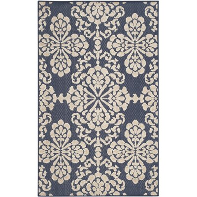 Mannox Navy/Cream Indoor/Outdoor Area Rug Rug Size: 9 x 12