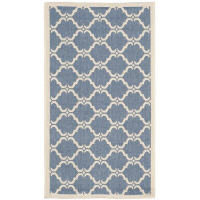Rockbridge Blue/Beige Indoor/Outdoor Area Rug Rug Size: Rectangle 2 x 37