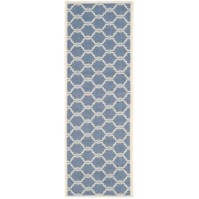 Rockbridge Blue/Beige Indoor/Outdoor Area Rug Rug Size: Runner 23 x 67