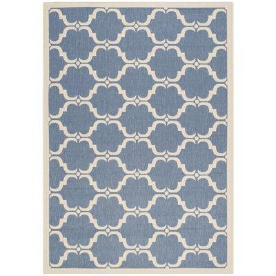 Rockbridge Blue/Beige Indoor/Outdoor Area Rug Rug Size: Rectangle 53 x 77