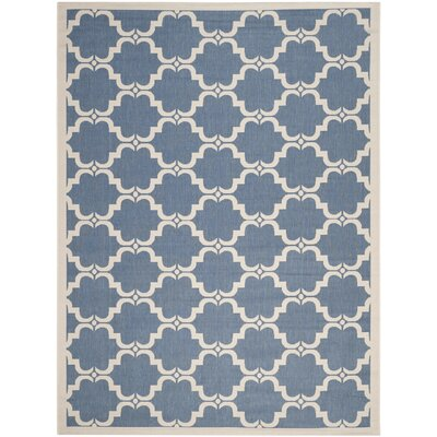 Rockbridge Blue/Beige Indoor/Outdoor Area Rug Rug Size: Rectangle 8 x 11