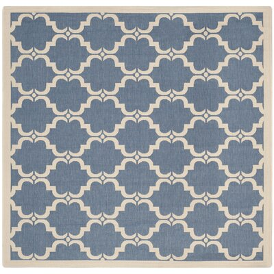 Rockbridge Blue/Beige Indoor/Outdoor Area Rug Rug Size: Square 710