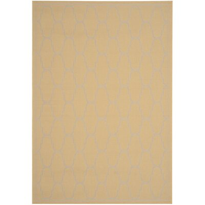 Rockbridge Yellow/Beige Indoor/Outdoor Area Rug Rug Size: Rectangle 4 x 57